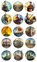 Civ 5 Mod Icons - Assorted 2 by JanBoruta