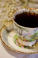 Water Color TeaCup by AllysaH-Photography