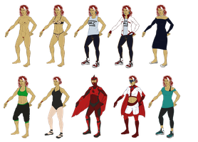 Layla outfits (SH AU) by snakes-on-a-plane