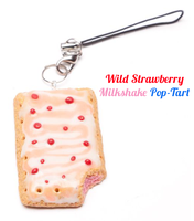 Wild Strawberry Milkshake Cellphone Charm by SweetSugaRush