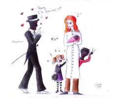 A -cough- 'happy' family by frisca-freak
