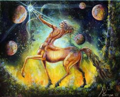 Zodiac sign of Sagittarius by SergeM73