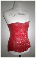 Red Leather Corset Sample by Trinitynavar