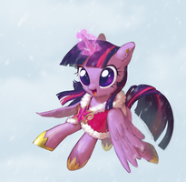 Twilight Sparkle and Winter by Uher0
