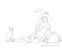 Halloween Pin-up Lines by KingJackalope