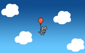 Red Balloon Nyan Cat Wallpaper by Jayro-Jones