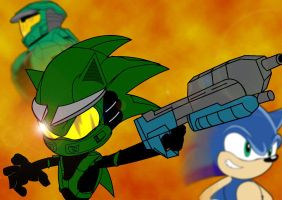 Sonic and Masterchief by TheWax
