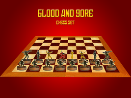 Blood and Gore chess set by AlexeiKazansky