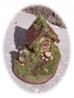 Moss Cottage - Fairy house with garden by srkatz1959