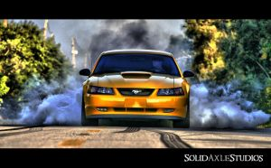 Mustang Burnout in HDR by SolidAxleStudios