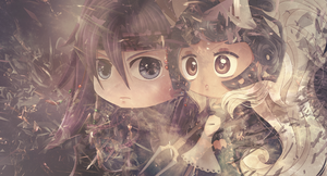Chibi Caius and Fran Wallpaper by CenixNova