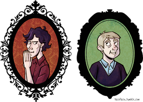 Sherlock and John Frames by taconaco