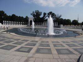 WW2 Memorial Fountain Alternate by matash21