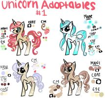 Unicorn Adoptables! NUMBER 1 CLOSED by GeekPony