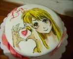 hand painted cake for Nadine by alcat2021