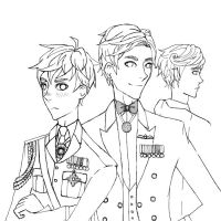 Brits in uniform by cakesbaker