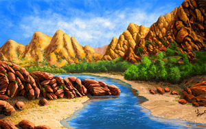 The mountains by abyss1956