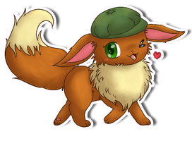 Commission: Honrupi the Eevee by fuwante-chan