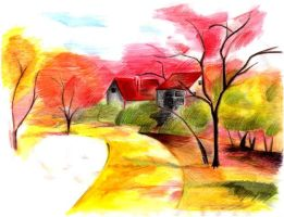 Autumn scenery by lilmiss94