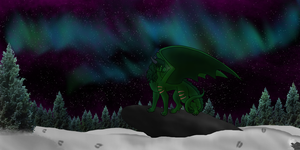 A Winter's Hunt by DragonThunderstorm