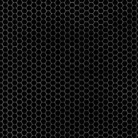 Hexagon Grid Black + Grey by FantasyStock