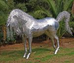 Aluminium life size Horse Sculpture Finished by Toozies