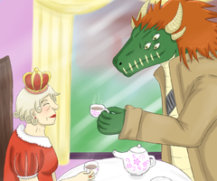 Drinking tea with the queen by my-darkness