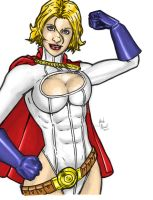 Power Girl basic colors by BanebrookStudios