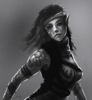 Woman thief sketch by Nahelus