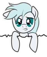Commission - White Fury Pocket Pony Miffed by ArshnessDreaming