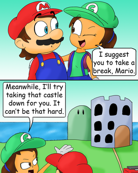 Cindette wants to help Mario by JuacoProductionsArts