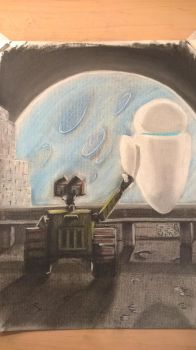 WALL-E and EVE by JMNunderground