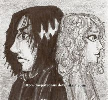 Snape and Hermione by DoePatronus