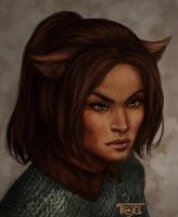 Etana Portrait by NickRoblesArt