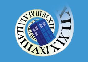 TARDIS in time by nati-nio