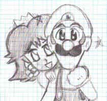 What The-? Its Daisy and Luigi by LoveandCake