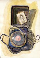 Forgotten music. The old record-player by Ragini123