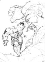Zangief vs Marduk by TBoy85