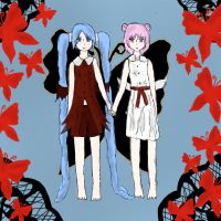 xxxHolic: Maru and Moro by matisse77