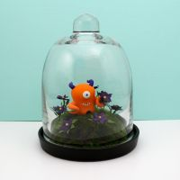 Purple Flowers Glass Dome Habitat by TimidMonsters