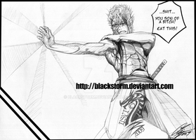 BLEACH: GRIMMJOW -Eat this- by blackstorm