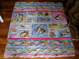 Kitty Quilt by rhaley