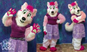 Rosie the Wolfdog Partial Suit by LobitaWorks