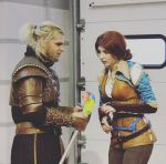 Triss and Geralt cosplay Witcher 3 by Katfromrivia