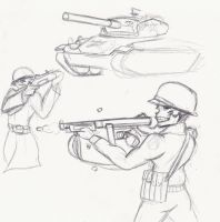 Skull Tanker Sketches by SimonovFox