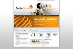 Radio Circle Website Interface by theideafield