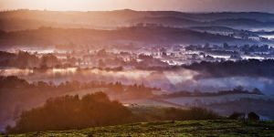 Sunrise over Fermanagh by mole2k