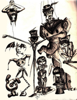 Freak Circus -roughs- by joce13