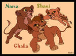 Kiara and Kovu's cubs by HydraCarina