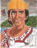 The poet King Nezahualcoyotl - El rey poeta by tlacuilopilo